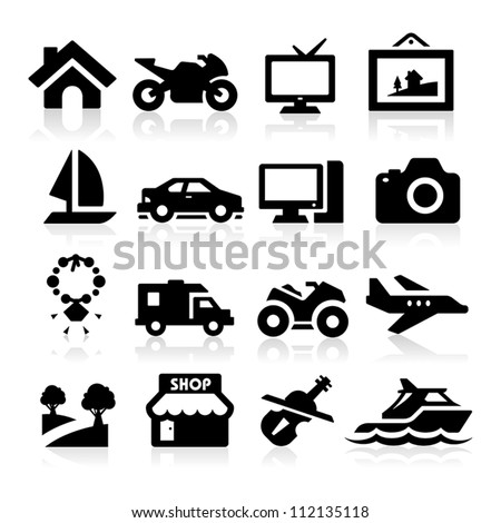 Property Insurance icons - stock vector