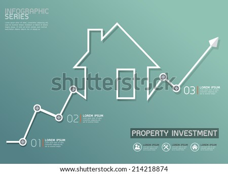 Property Investment Infographic  - stock vector