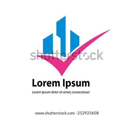 Property Logo - stock vector