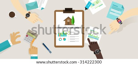 property management concept business house investment - stock vector