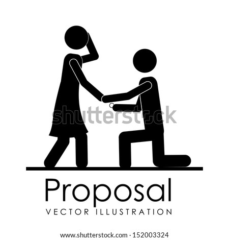 proposal design over white background vector illustration  - stock vector