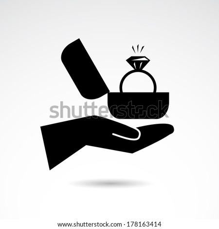 Proposal icon isolated on white background. VECTOR illustration. - stock vector
