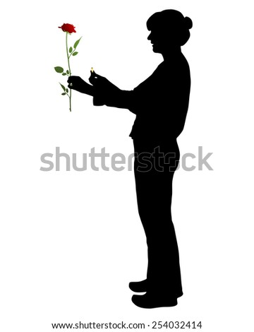 Proposal of marriage - stock vector