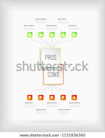 Pros And Cons Comparison Vector Template