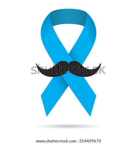Prostate Cancer Awareness Ribbon On White Stock Vector Hd Royalty