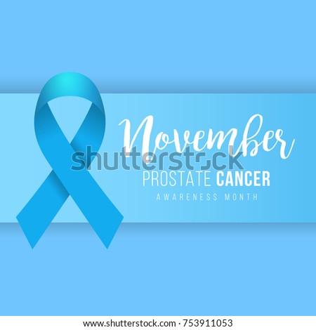 Prostate Cancer Blue Awareness Ribbon Background Stock Vector 2018