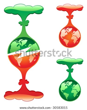 Protect Or Destroy, vector - stock vector