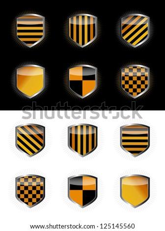 Protect shield set vector illustration - stock vector