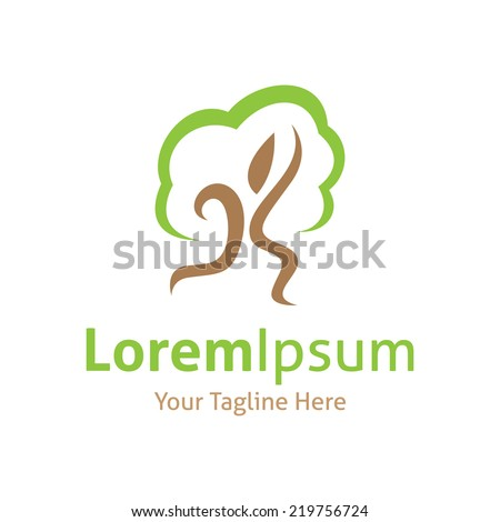Protect the forest save trees vector icon logo - stock vector