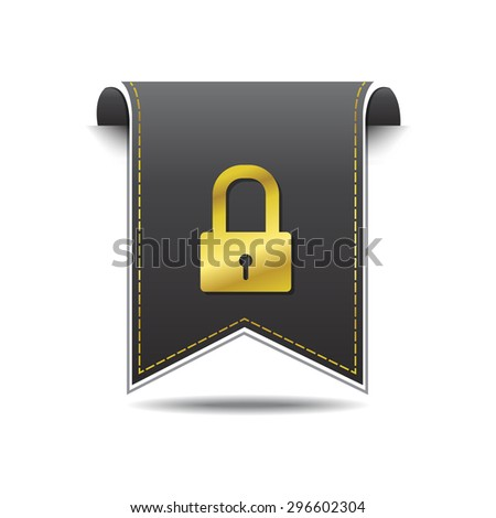 Protected Golden Vector Icon Design