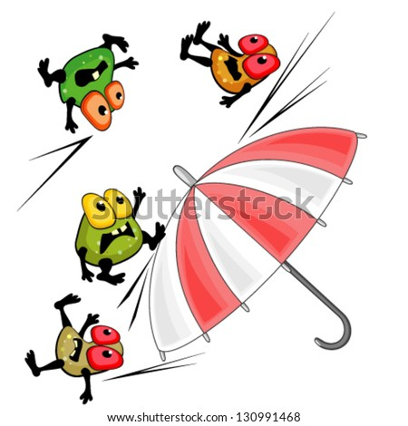 Protection against infection - stock vector