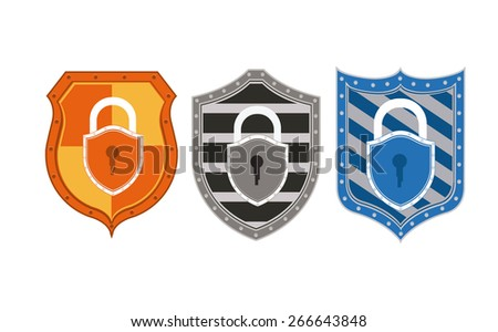 Protection design over white background, vector illustration