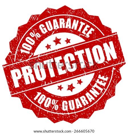 Protection guarantee icon - stock vector