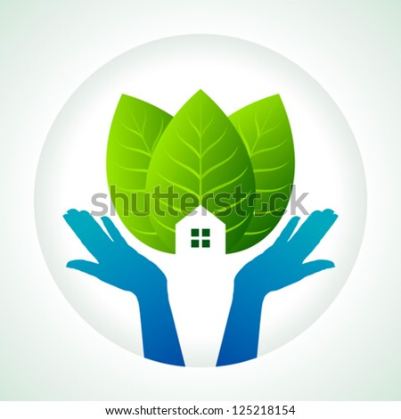 protection of green, save earth - stock vector