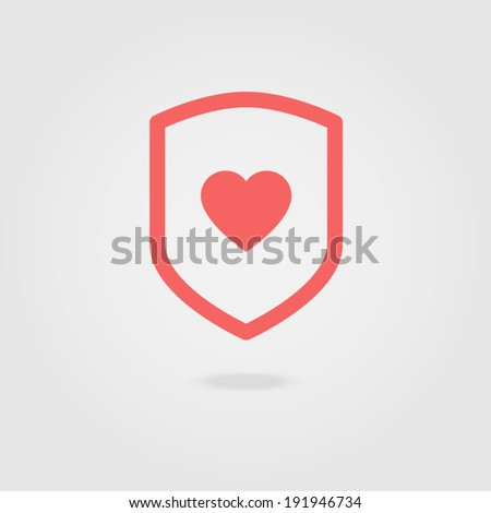 Protection of Love - stock vector