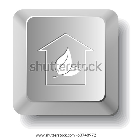 Protection of nature. Vector computer key. - stock vector