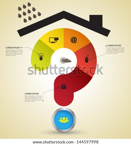 Protection problem, Can use for business concept. - stock vector