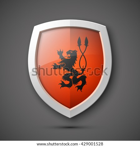 Protection shield concept Coat of arms  icon badge banner privacy business infograph  - stock vector
