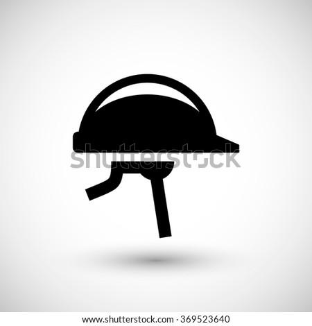 Protective helmet icon - stock vector