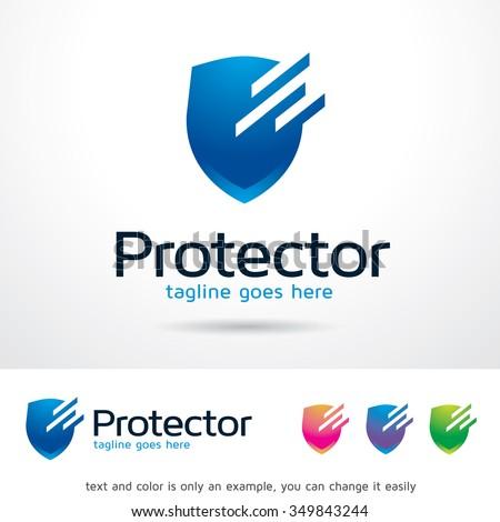 Protector Logo Template Design Vector - stock vector