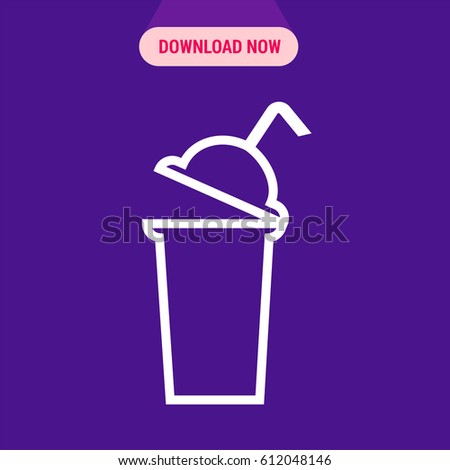 Protein Shaker Vector Icon Outlined Symbol Stock Vector 612048146