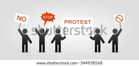 Protest icon - stock vector