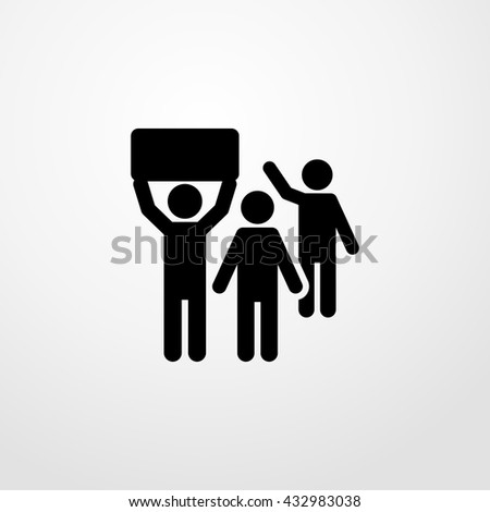protest icon. protest sign - stock vector