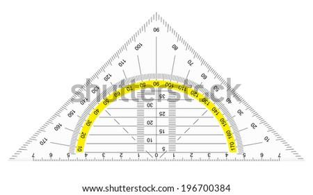 protractor - stock vector