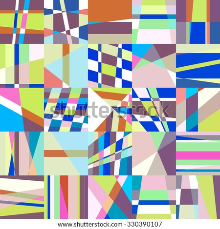 Psychedelic abstract geometric seamless pattern.