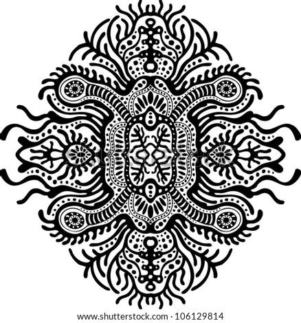 psychedelic design element - stock vector