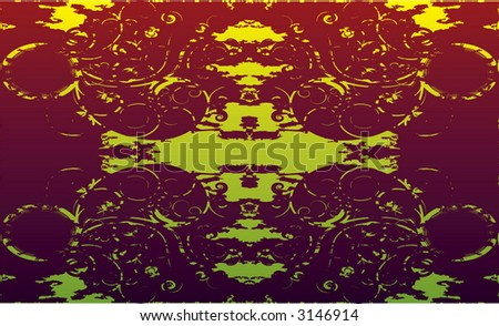 psychedelic kaleidescope background - stock vector
