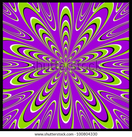 Psychedelic Optical Trip - stock vector