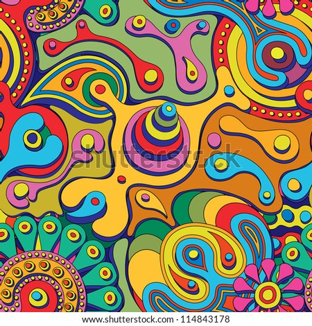 psychedelic seamless pattern - stock vector