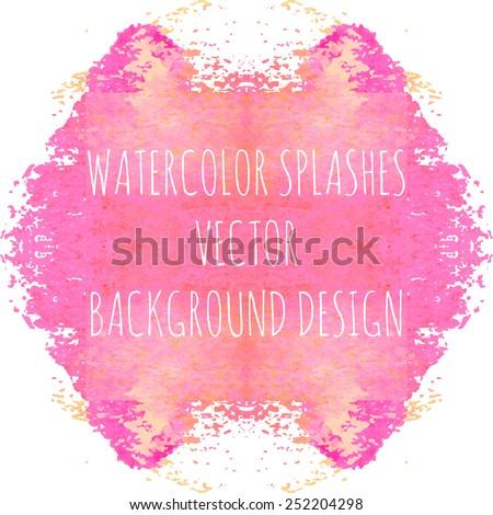 Psychological watercolor splashes for mental test. Vector illustration. - stock vector