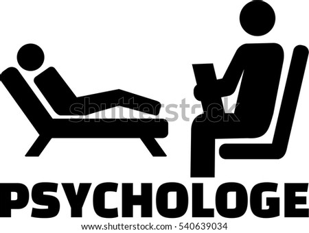Psychologist icon with german job title