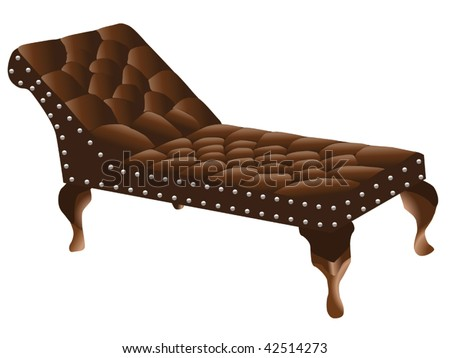 psychologist's couch - stock vector
