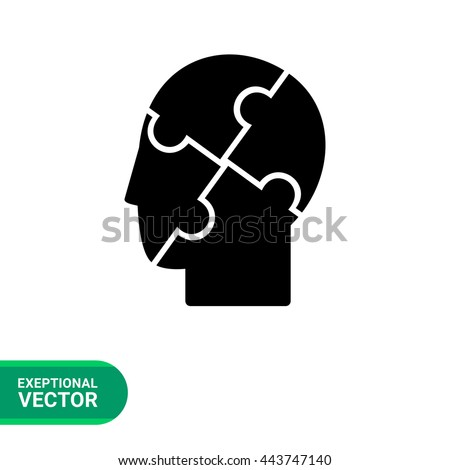 Psychology Vector Icon - stock vector