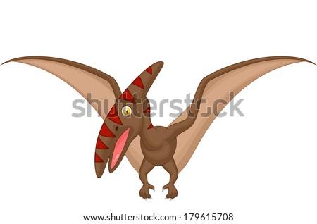 Pterosaurus cartoon - stock vector
