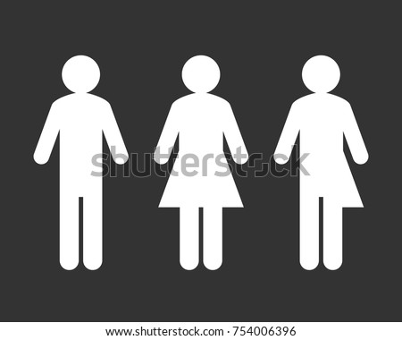 Public Bathroom Sign With Third Gender And Sex Sign