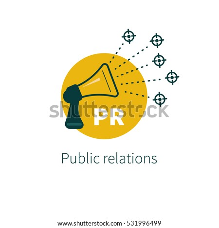 public relations vector megaphone target audience stock vector rh shutterstock com audience loose women travel audience logo