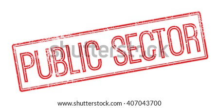 Public Sector red rubber stamp on white. Print, impress, overprint. - stock vector