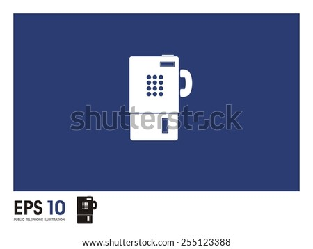 public telephone illustration - stock vector