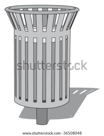 public trashcan 2 - stock vector