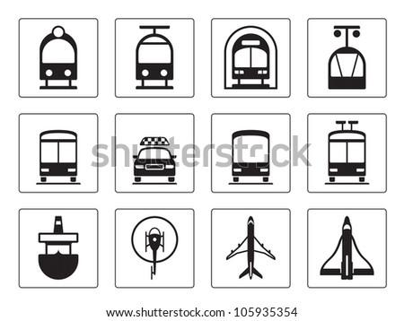 Public vehicles - vector illustration - stock vector