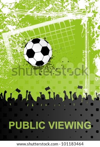 Public Viewing - stock vector