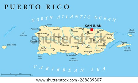 Puerto Rico Map Stock Images RoyaltyFree Images Vectors