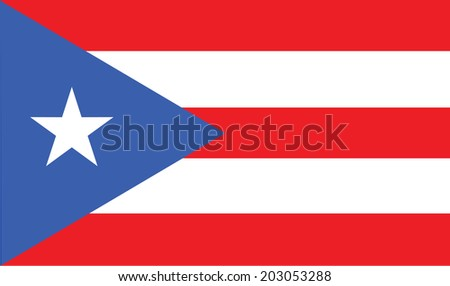Puerto Rico vector flag isolated on background. - stock vector