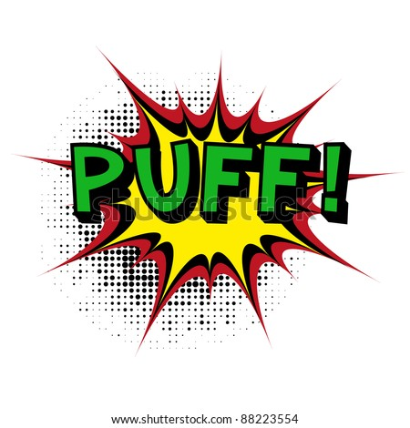 Puff. Comic book explosion. - stock vector