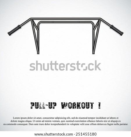 Pull-up bar.Vector - stock vector