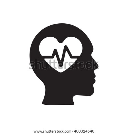 pulse icon on the white background. - stock vector